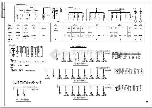 电焊车间全套电气施工图(共7张)-图1