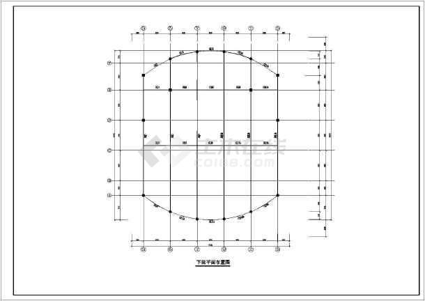 体育馆钢结构施工图纸-图3