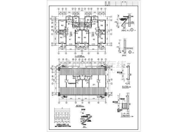 某职工住宅建筑施工图纸(共6张)-图2