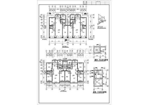 某职工住宅建筑施工图纸(共6张)-图3