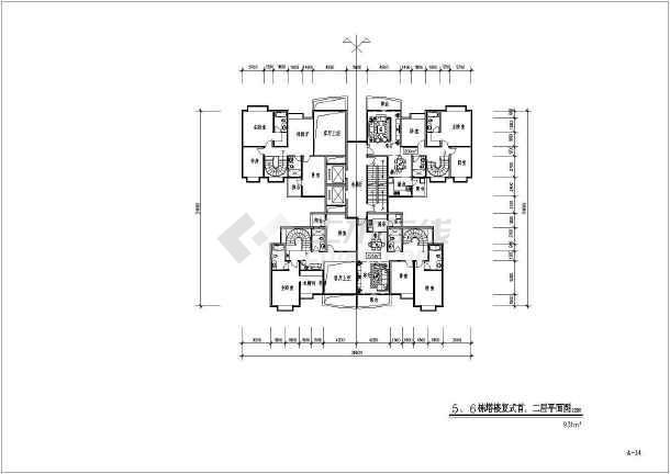 点击查看某原文化宫高层居住小区建筑图纸(全套)第1张大图