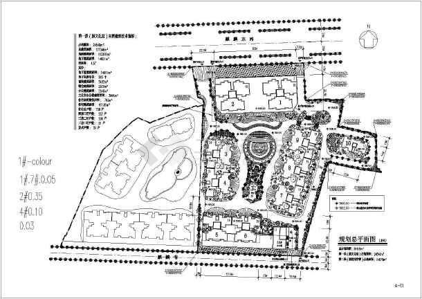 某原文化宫高层居住小区建筑图纸(全套)-图2
