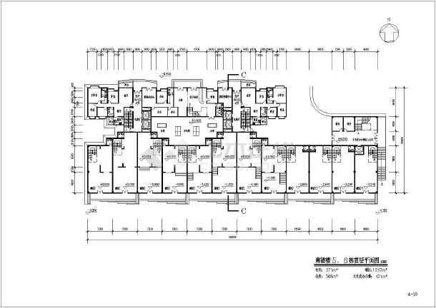某原文化宫高层居住小区建筑图纸(全套)-图3