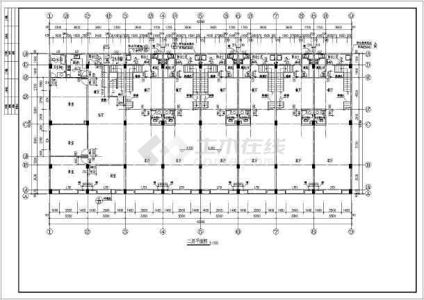 某地商铺建筑施工图-图2