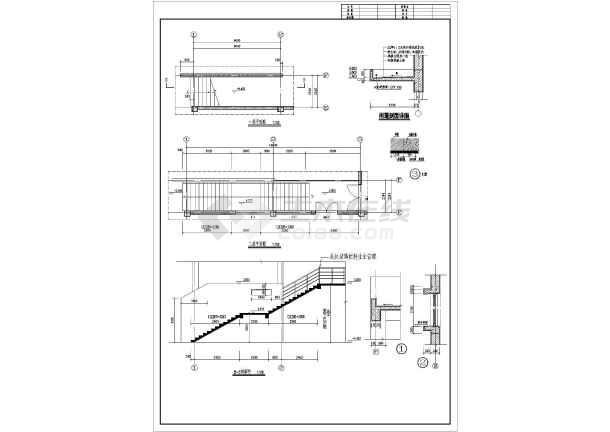 某地食堂建筑施工图cad-图1