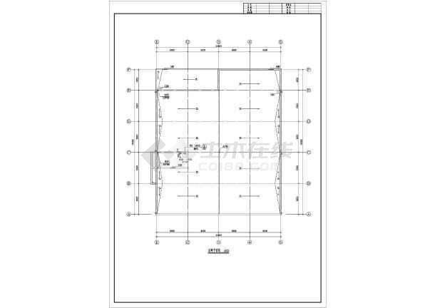 某地食堂建筑施工图cad-图3