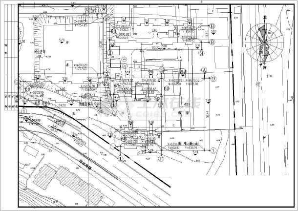 某地某超市设计建筑cad图-图2