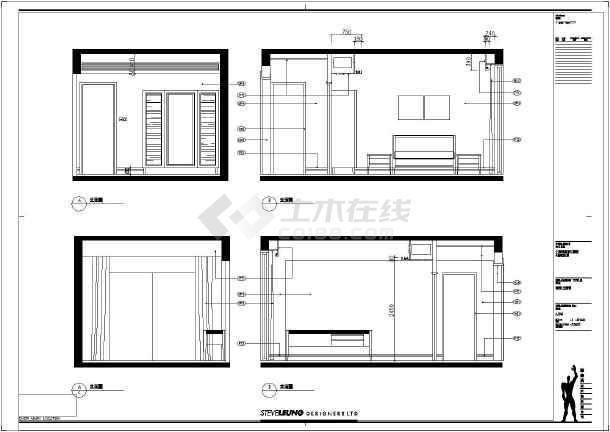 别墅建筑室内装修全套cad施工图-图3