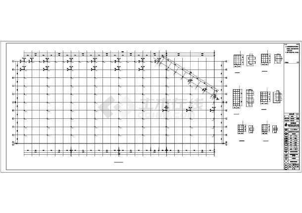 生产车间钢结构施工图纸-图1