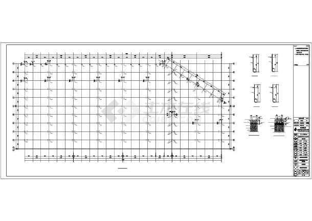 生产车间钢结构施工图纸-图3