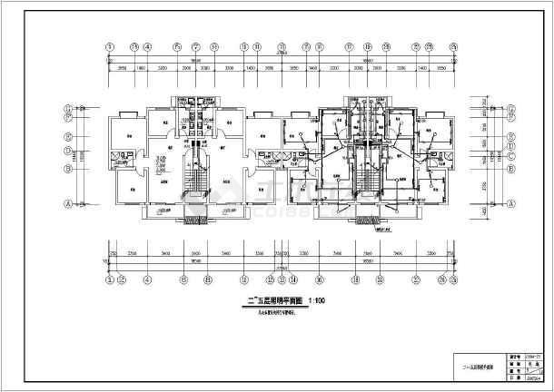 某小区住宅楼电气施工图(共12张)-图1