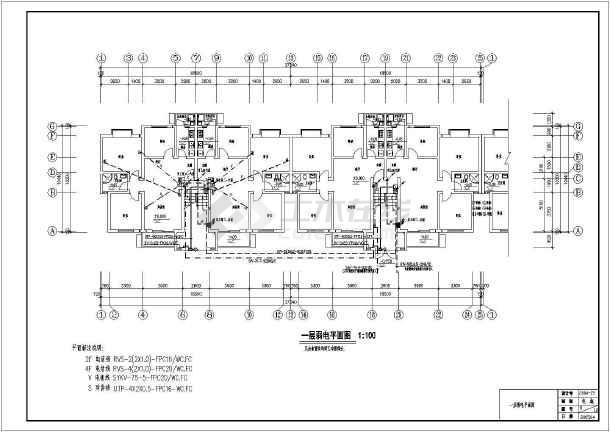某小区住宅楼电气施工图(共12张)-图3