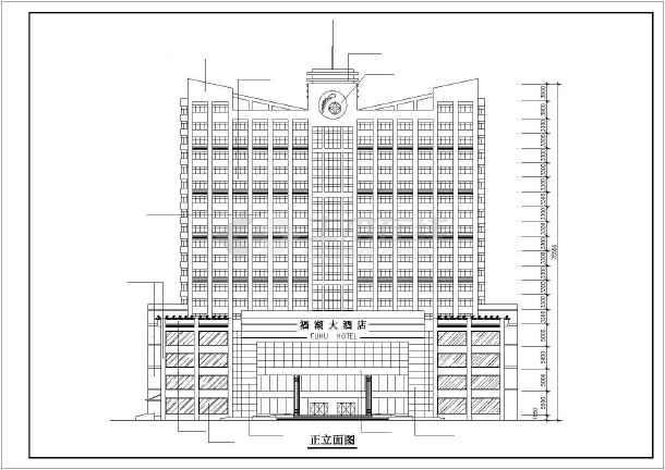 某地高层酒店建筑设计方案(共10张)-图2
