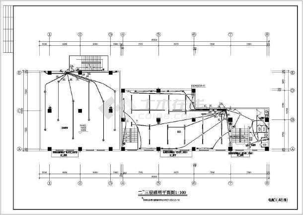 一套库房电气cad施工图(共8张)-图2