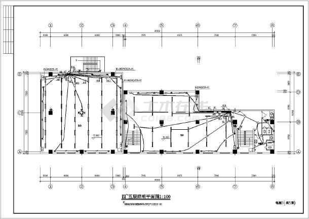 一套库房电气cad施工图(共8张)-图3