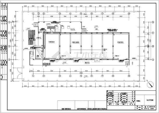 一套工业厂房详细电气施工图(共7张)-图1