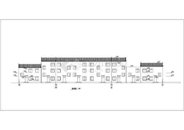 某地仿古街建筑施工图纸(共14张)-图3