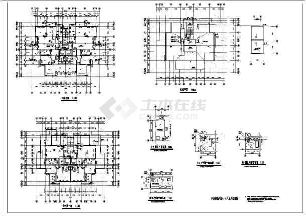 某地紫桂苑4号楼建筑施工图(共4张)-图2