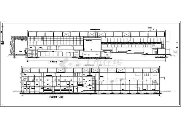 某中海会所建筑施工图纸(共5张)-图3
