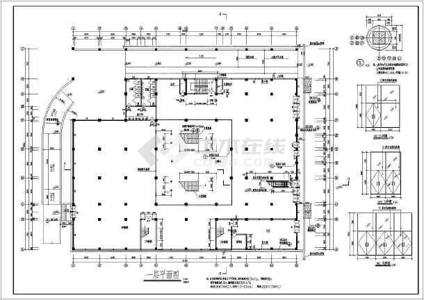 某文化商城建筑图纸-图1