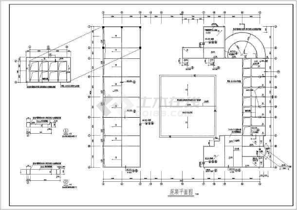 某文化商城建筑图纸-图2