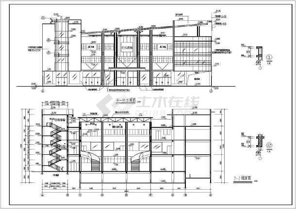 某文化商城建筑图纸-图3