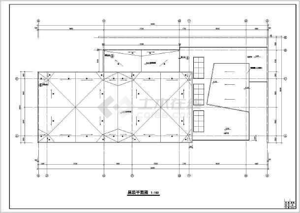 某地超市施工建筑cad图-图3