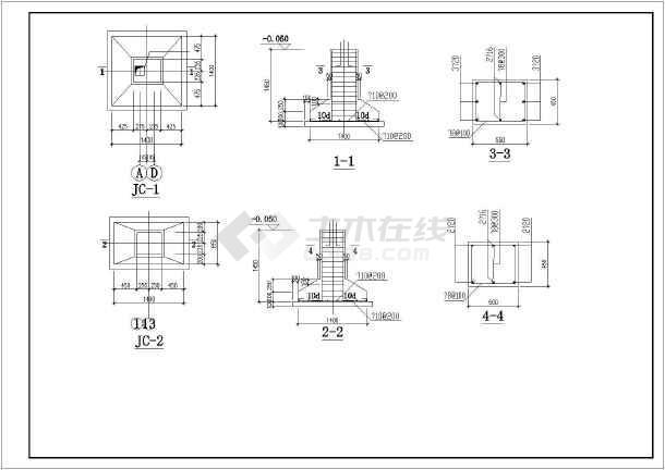 轻钢结构奶牛养殖区工程施工图纸(含建筑结构水电)-图1