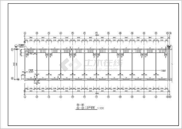 二层商业楼门面房建筑施工图纸(含设计说明)-图3