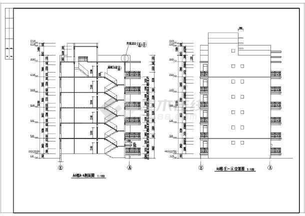 小区住宅楼建筑方案设计图-图1
