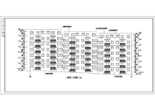 小区住宅楼建筑方案设计图-图2