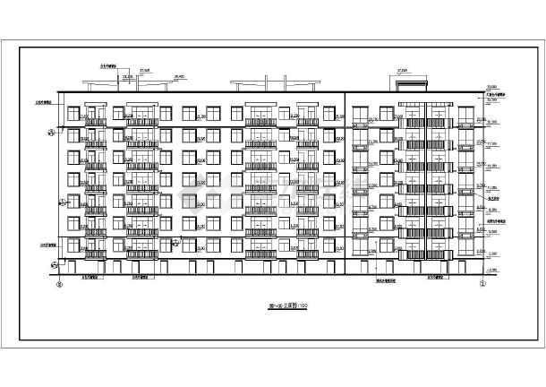 某温馨家园住宅小区建筑cad施工图(共11张)-图1