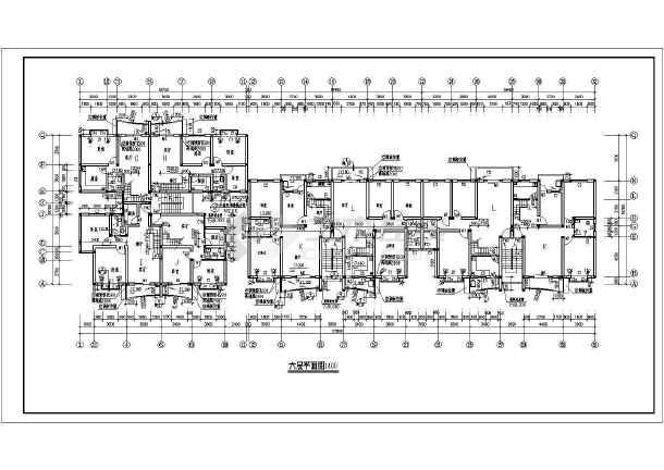 某温馨家园住宅小区建筑cad施工图(共11张)-图3