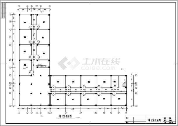 某六层小型办公楼建筑方案设计CAD图-图1