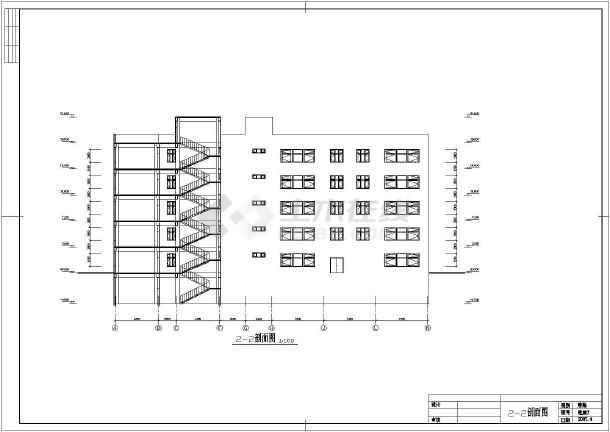 某六层小型办公楼建筑方案设计CAD图-图3