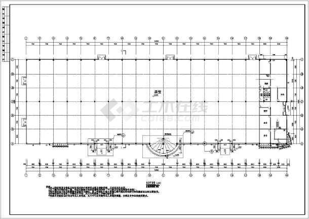 某地商场建筑外幕墙cad施工设计图(包含结构、节点图)-图一