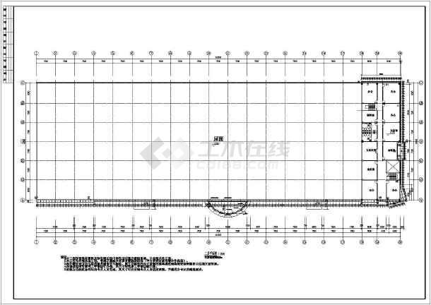 某地商场建筑外幕墙cad施工设计图(包含结构、节点图)-图2