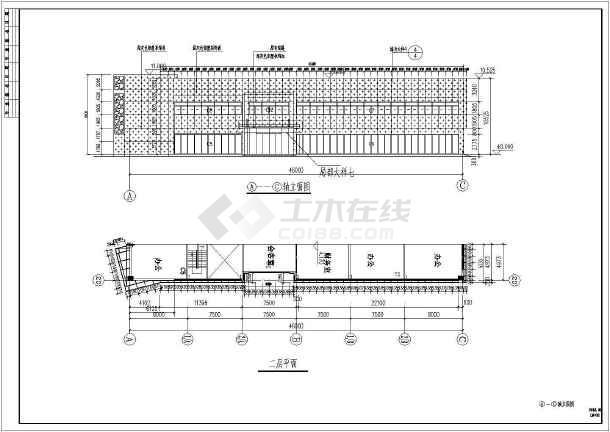 某地商场建筑外幕墙cad施工设计图(包含结构、节点图)-图3