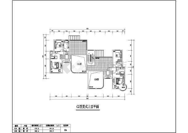 点击查看某地居住小区7种户型建筑图第1张大图