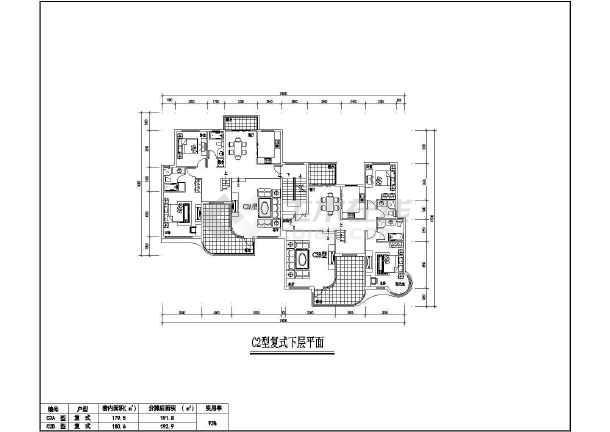某地居住小区7种户型建筑图-图1