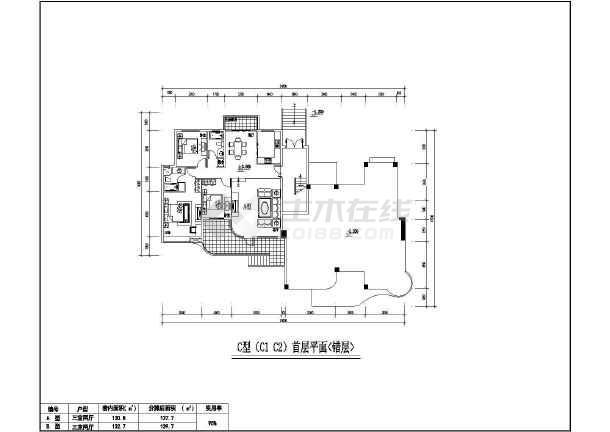 某地居住小区7种户型建筑图-图2