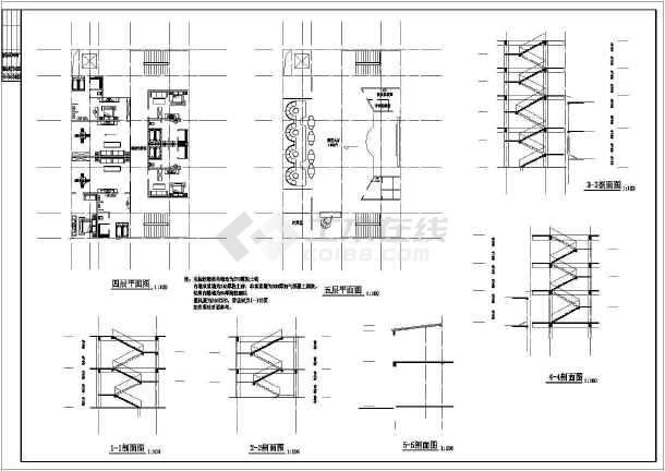 某地洗浴中心建筑图-图1