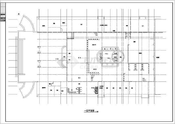 某地洗浴中心建筑图-图3