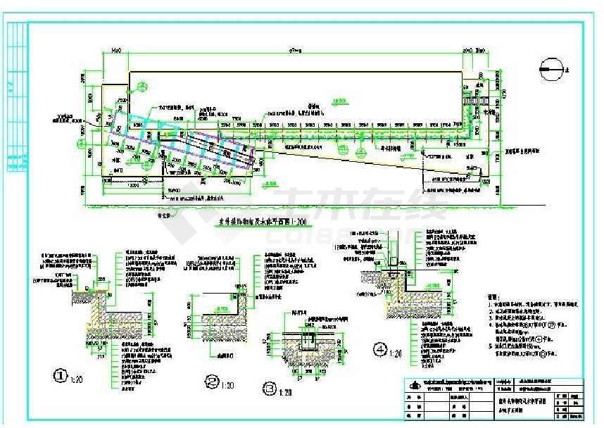 某地售楼处建筑与装修cad设计图-图1