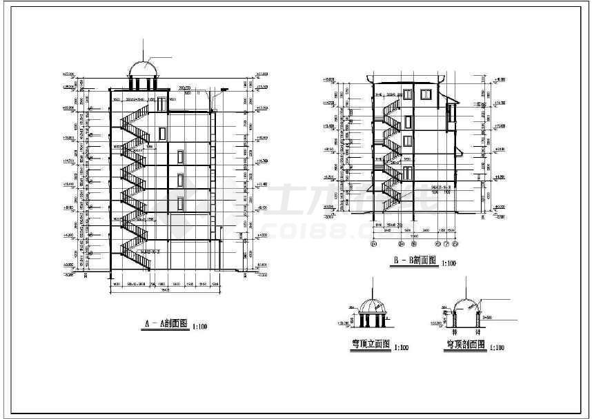 某地详细综合性商业建筑施工图-图2