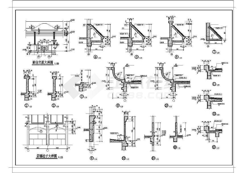某地详细综合性商业建筑施工图-图3