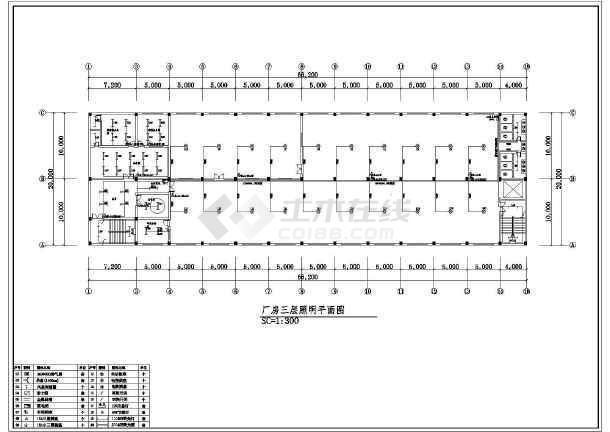 一套工厂详细的电气cad施工图(共13张)-图1