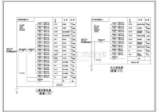 一套工厂详细的电气cad施工图(共13张)-图3