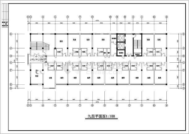 某地综合楼施工建筑图-图1
