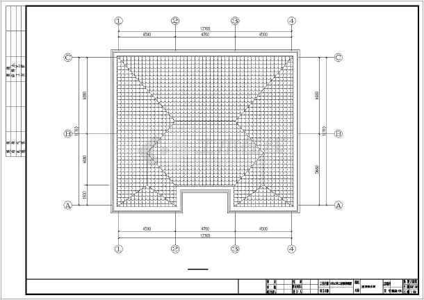 点击查看14米x12米二层钢结构别墅设计图纸第1张大图